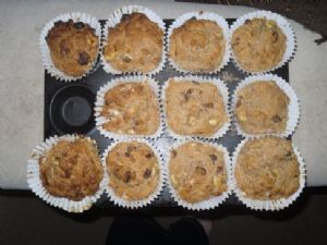 (UK Version) LOW FAT Banana Apple Sauce Muffins