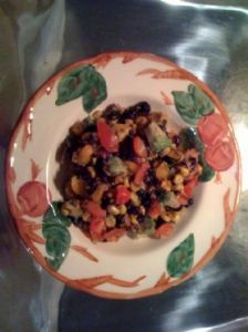 Black Bean, Roasted Corn, Tomato, Avocado Salad