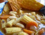 Vegetarian Tortilla Soup (Low cal, Low carb, and Low fat!)