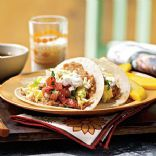 Egg & Cheese Breakfast Tacos with Homemade Salsa