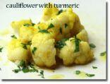 Cauliflower with Turmeric