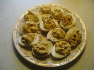 Smokin Hot Deviled Eggs
