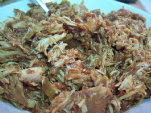 Two Ingredient Crockpot Mexican Chicken