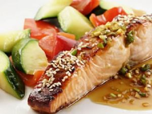 Honey-Soy Broiled Alantic Salmon