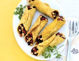 Black Bean and Corn Flautas