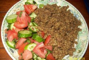 Lentils and Bulgur / Moujadara