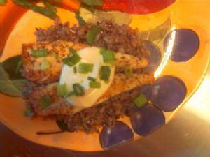 Skillet Fish Fillets with Horseradish Cream