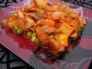 Sweet N' Sour Deep Fried Tofu & Veggies