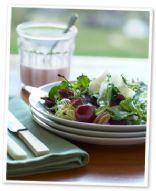 Arugula-cherry salad w/ blue cheese