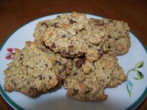 100 Calorie Peanut Butter Chocolate Oat Cookies
