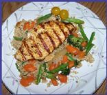 Grilled Chicken with Garden Fried Rice for Two