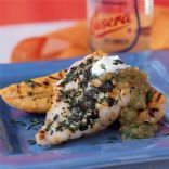 Grilled Fish with Sofrito Sauce and Plátanos Asados