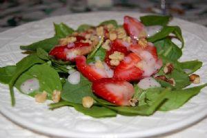 Low fat Strawberry Poppy seed salad
