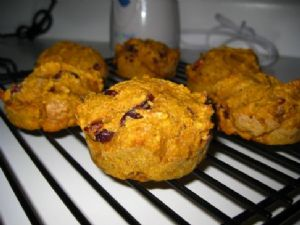 Cranberry-Pumpkin Muffins (or Bread)