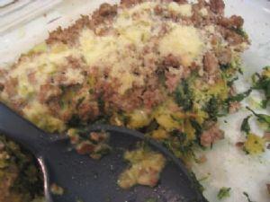 Turkey, Stuffing, & Spinach Casserole