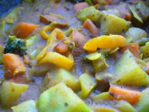 Coconut curry chicken with sweet potato