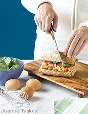 Potato & Egg Italiano Sandwich (From Clean Eating)