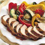Thai Pork Tenderloin with Grilled Vegetables