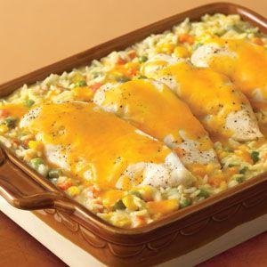 Campbell's Cheesy Chicken & Rice Casserole