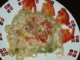 Chicken broccoli w/ feta-fredo sauce