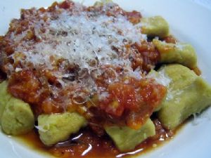 Sweet Potato Gnocchi w/ Lentil Tomato Sauce