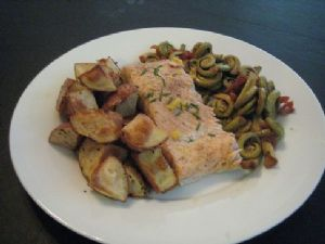 Maritime Fish and Chips with Fiddleheads