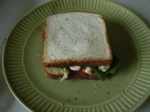 Grilled Chicken Sandwich with Goat Cheese and Pesto