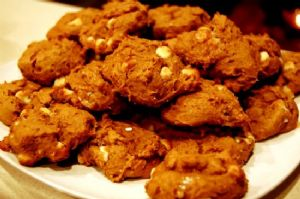 White Chocolate Chip Pumpkin Spice Cookies