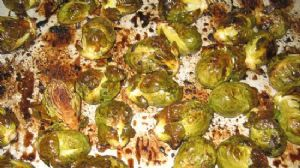 Roasted Brussels Sprouts with Red Wine