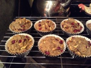 Apple Pomegranate Nut Loaves or Muffins