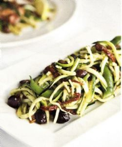 Flat Bean & Raw Zucchini Salad with Mint Dressing