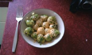 Brussels Sprouts with Cheeeeese