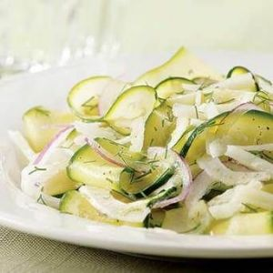 Raw Shaved Zucchini and Fennel Salad