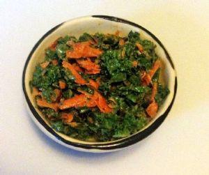 Kale and Carrot Slaw with Spiced Dressing