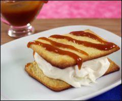 Healthy, Low Sugar Caramel Banana Shortcake Sandwiches