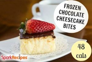 Frozen Chocolate Cheesecake Bites