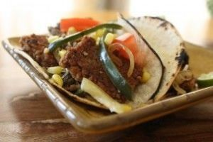 Wild Mushroom, Steak, and Poblano Tacos