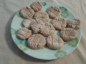 Reduced Sugar Peanut Butter Cookies