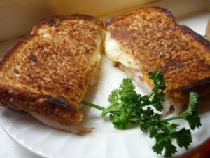 Grilled Cheese w/ Meunster, Colby & Low-Sodium Chicken