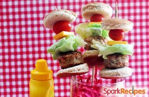 Skinny Cheeseburger Slider Kabobs