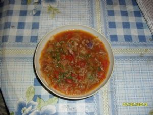 Cabbage and Ground Beef Soup