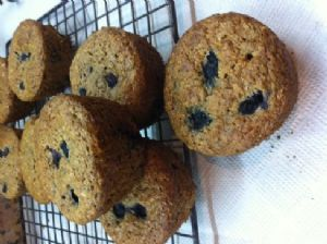 Awesome Blueberry Sour Cream Muffins