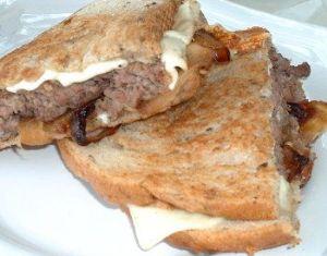 White Cheddar Onion Burger