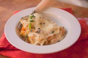 Butternut Squash Lasagna with Blue Cheese and Mozzarella