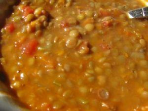 Lentil Soup with Ham bone