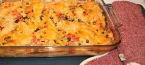 Mexican Chicken Penne Bake (Low Sodium, Low Fat, High Protein)