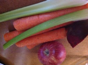 Juice: apple, beets celery, carrots