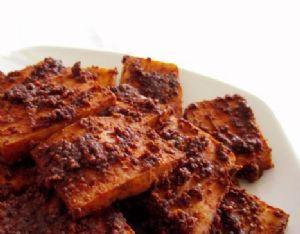 Mustard crusted tofu