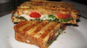 Tomato, Basil and Mozzarella Panini Sandwich