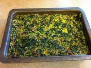 Egg, Spinach, Ham Breakfast Casserole